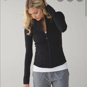 Lululemon shine on jacket, EUC, black, sz 6